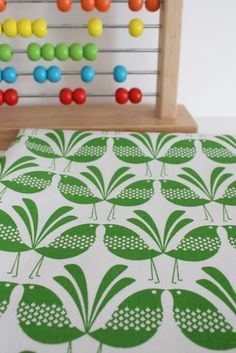 Belbird Design - Hand Screen Printed Fabric in Green via Etsy.#lifeinstyle #greenwithenvy