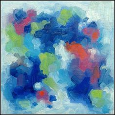 Break Away, 8x8 Oil Painting, Abstract, Colorful Art