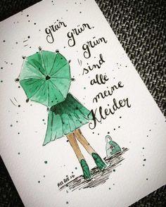 Letter Lovers aponi72: Handlettering grün grün grün sind alle meine Kleider