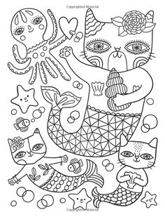 Amazon Posh Adult Coloring Book Cats Kittens For Comfort Creativity