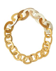 Maiyet 18k Yellow Gold & Natural Horn Link Necklace