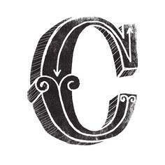 C - the third letter of the alphabet Art Print by Matthew Taylor Wilson