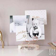 DIY Wire Photo Holder - Ditch the frames and dress up your desk with this gorgeous wire photo holder. Wire Picture Holders, Wire Picture Frames, Photo Holders, Photo Craft, Diy Photo, Making Frames, Diy Furniture Accessories, Booth Decor, Picture Stand