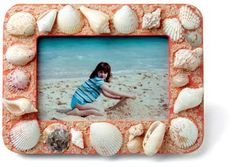 seashell crafts (memory box and picture frame)