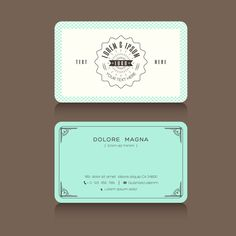 White and yellow business card free psd free business cards white and turquoise vintage business card free vector reheart Images