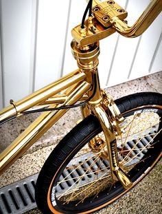 Woody Itson's gold plated Hutch Trickstar freestyle bmx