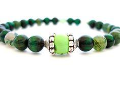 Malachite Meditation Bracelet Malachite by peaceofminejewelry, $21.00