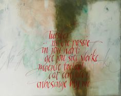 Calligraphy done by Cecile Walters.  See more at www.letterdance.co.za