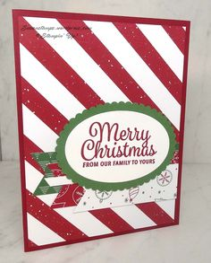 Often times when I am talking to people about making their own Christmas cards I am told they just don't have time to make them. Here is a quick and easy card you can make in no time at all.…