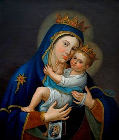 The icon of Our Lady of Mount Carmel in Manfredonia, Italy.