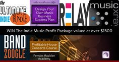 Want to win career-building courses including The Indie Music Profit Plan & Profitable House Concerts plus tools like a BandZoogle website for a year, The Ultimate Indie Bundle, $150 credit at Music Xray & Relay image creation software.