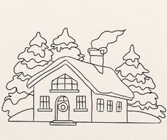 Awesome Coloring Pages House Window that you must know, You?re in good company if you?re looking for Coloring Pages House Window House Colouring Pictures, House Colouring Pages, Cute Coloring Pages, Coloring Sheets, Coloring Books, Christmas Colors, Christmas Cards, House Clipart, Snow Pictures