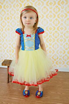 SNOW WHITE costume dress girls princess  by loverdoversclothing, $58.00