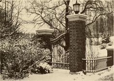 Sweet Briar College 1974 Renamed class of 85 gates when the class raised the money to relocate the gates to their current home