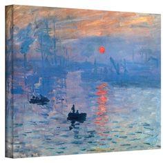 Claude Monet 'Sunrise' Wrapped Canvas | Overstock.com