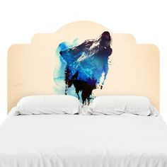 Alone As a Wolf Headboard Decal