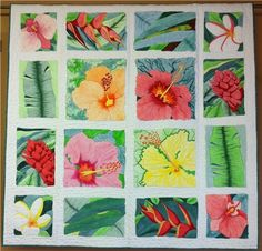 Hawaiian Surprise, 2012 raffle quilt, Quilt Show by the Sea (Florida)