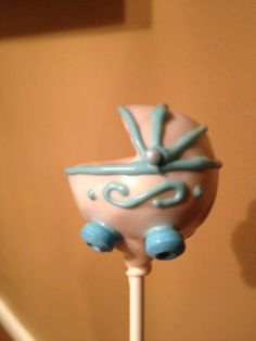 Baby carriage cake pop by Susan Oliver