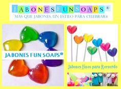 Jabones coloridos para celeraciones de verano. Jabones Fun Soaps con envios a todo México.