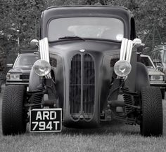 """A '50's Ford """"Pop""""!  The British variant  on the ubiquitous '32 Ford hot rod.  These Ford Populars ('Anglia' in the 'States) were rodded by many Brits ... I remember this particular car at shows a while ago in the UK!"""