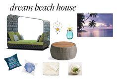 """beach time"" by aliss-15 on Polyvore featuring interior, interiors, interior design, hogar, home decor, interior decorating, Skyline, One Bella Casa, Grandin Road y Nordstrom"