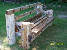 lineman bench!! Jordan would love to make something like this!!! When we buy a house I am so telling him to make this!