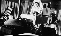 Nursing Sister Ruby G. Peterkin, (from Toronto) working diligently in her tent during the spring of 1916. #nursinghistory.
