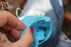 unione pezzi lavorati a crochet per portamonete uncinetto a crochet