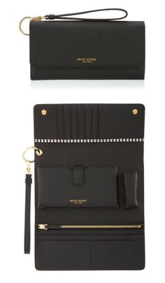 The Uptown Out & About Wallet is for the Bendel Girl who's all about town with every essential at hand. Crafted with fine pebbled leather in a variety of this season's hottest hues, this luxury handbag accessory boasts a slot for everything—including your