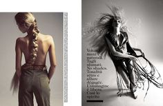 Camilla Akrans photographs Alisa Ahmann styles by Patrick Mackie with make up from Karan Franjola for Vogue Italy, April 2015