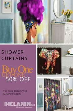 """""""This is the most beautiful shower curtain I have owned. The colors are wonderful, it just brightens up my bathroom. I plan to order the rug and towels. best purchase ever.""""- Wanda SALE Happening Now! African Shower Curtain, Traditional Shower Curtains, Palace, Elegant Curtains, Things To Buy, Stuff To Buy, Curtains For Sale, Custom Shower Curtains, Home Accessories"""