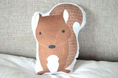 Squirrel Plushie Forest Animal Pillow Soft Baby Toy от cleverbetty