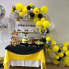 Digger Birthday, Digger Party, 2nd Birthday Boys, 4th Birthday Parties, Birthday Party Decorations, Birthday Banners, Farm Birthday, 1st Birthdays, Construction Party Decorations