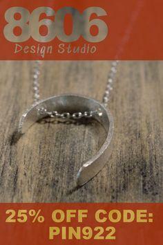 Fine silver necklaces handmade in Austin Texas