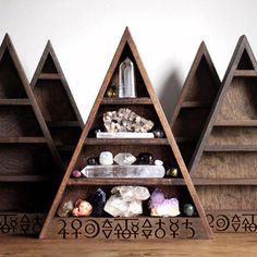 The Original Alchemy Shelf Triangle Shelf for by stoneandviolet