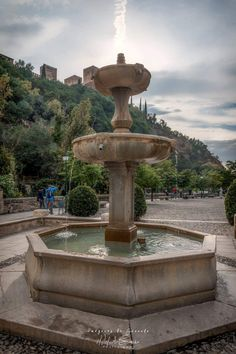 Granada, Fountain, Europe, Outdoor Decor, Life, Home Decor, Urban Sketching, Cities, Fonts
