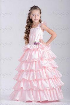 c79cfb76278 Купить товар Новый эксклюзивный весенний цветок девушка театрализованное  свадебное платье в категории Платья для девочек с