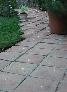 fiber optic lights in sidewalk