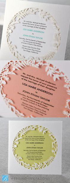 Enchanted Forest 1 Laser Cut P by B Wedding Invitations #lasercut #wedding #invitation #weddinginvitation #forest #lasercutinvitation #enchanted