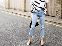 The Best Shoes to Wear With Skinny Jeans This Summer via @WhoWhatWearUK
