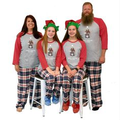 Raglan Sleeve Pajamas for the whole family! Personalized with a custom photo and a first name or last for a fun set of pajamas. #matchingchristmaspajamas #christmaspajamas #familychristmaspajamas #polarexpresspajamas #christmas #holidaypajamas #christmasgift #christmasphotoideas #pajamas #personalizedpajamas #christmas2020 #christmas #pressed4fun #p4f #fununiquecute #holidaypartyoutfit #holidaygift #holidaypartyideas #holidayparty Christmas Pajama Party, Christmas Eve Outfit, Photo Christmas Tree, Matching Family Christmas Pajamas, Holiday Pajamas, Christmas Eve Box, Christmas Tree Design, Christmas Shirts, Christmas Parties