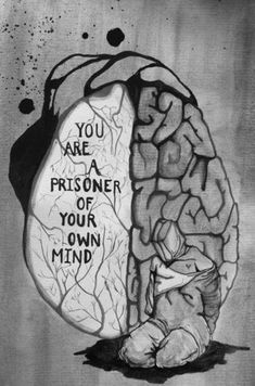 To pass time in prison Meursault relies very heavily on his own imagination and thoughts. To make the day go by he would reimagine his old room and memories and in a way escape to his own thoughts and memories. Street Art, Dark Art, Sketches, Feelings, Creative, Pictures, Prisoner, Wisdom, Sadness