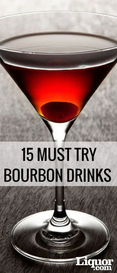 Bourbon drinks may lead to a purist telling you that adding even a drop of water will ruin the whiskeys flavor, but thats just one of the many myths surrounding the spirit. Try some of our favorite bourbon drinks today, you can thank us later! Bourbon Cocktails, Burbon Drinks, Whiskey Drinks, Bar Drinks, Cocktail Drinks, Yummy Drinks, Cocktail Recipes, Bourbon Whiskey, Scotch Whiskey