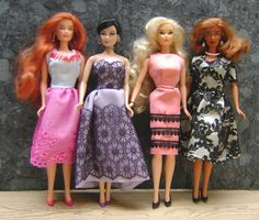 My lace dress collection for Candi dolls