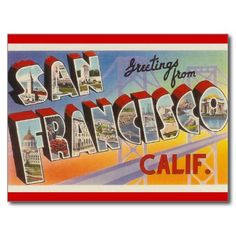 Review Vintage Travel San Francisco Postcard This site is will advise you where to buy
