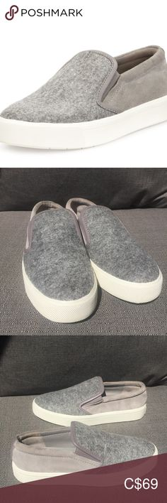Vince Banler Slip-On Sneaker Gray Flannel Suede Grey Flannel, Plus Fashion, Fashion Tips, Fashion Trends, Suede Heels, Shoes Sneakers, Slip On, Signs, Gray