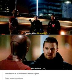 There's always time to give out compliments XD Supergirl Dc, Supergirl And Flash, Dc Tv Shows, Movies And Tv Shows, Justice League Show, Dc Comics, The Flash Season 1, Star Labs, Stephen Amell Arrow