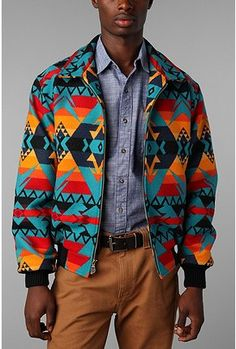Pendleton Santa Fe Jacket. These colors are to die for.