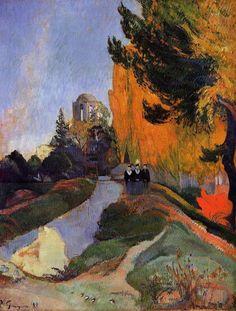 """Paul Gauguin: """"Los Alyscamps, Arlés"""". 1888"""
