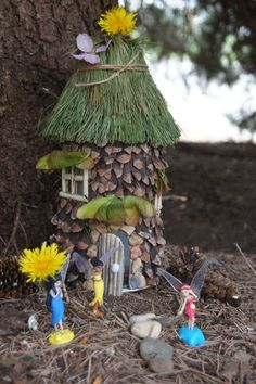 Image result for milk jug fairy house